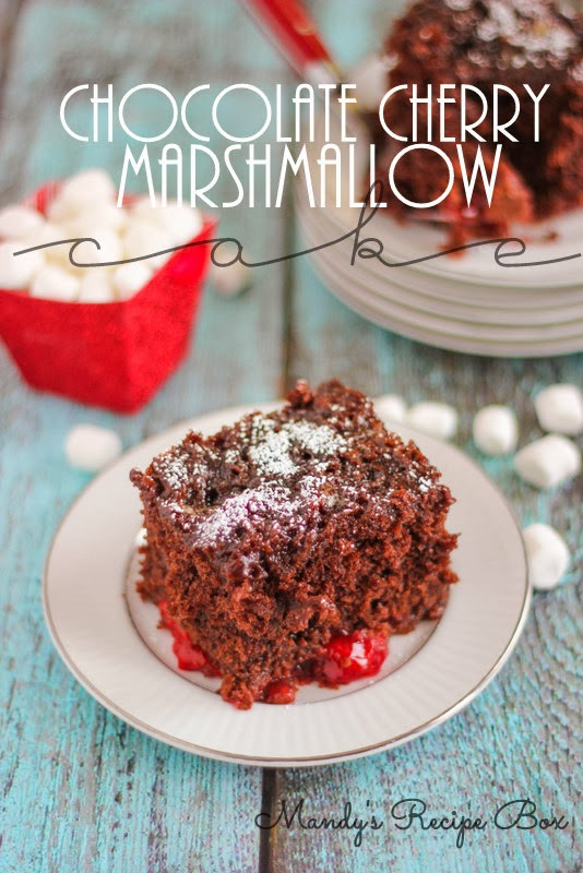 Chocolate Cherry Marshmallow Cake