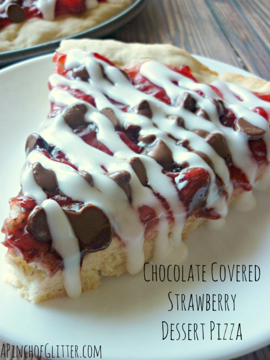 Chocolate Covered Strawberry Dessert Pizza Mandy S