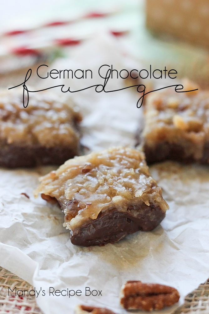 German Chocolate Fudge