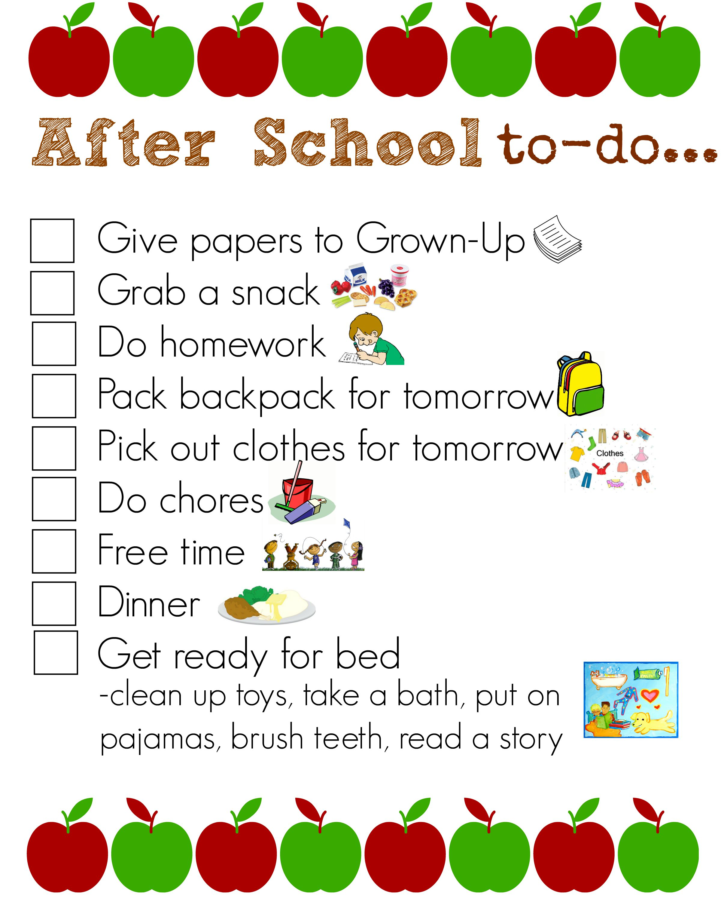 photo regarding After School Schedule Printable called Cost-free Once College or university Schedule Printable Mandys Recipe Box