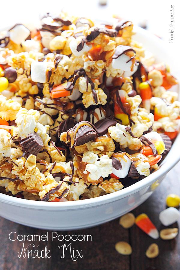 Caramel Popcorn Snack Mix Mandy S Recipe Box
