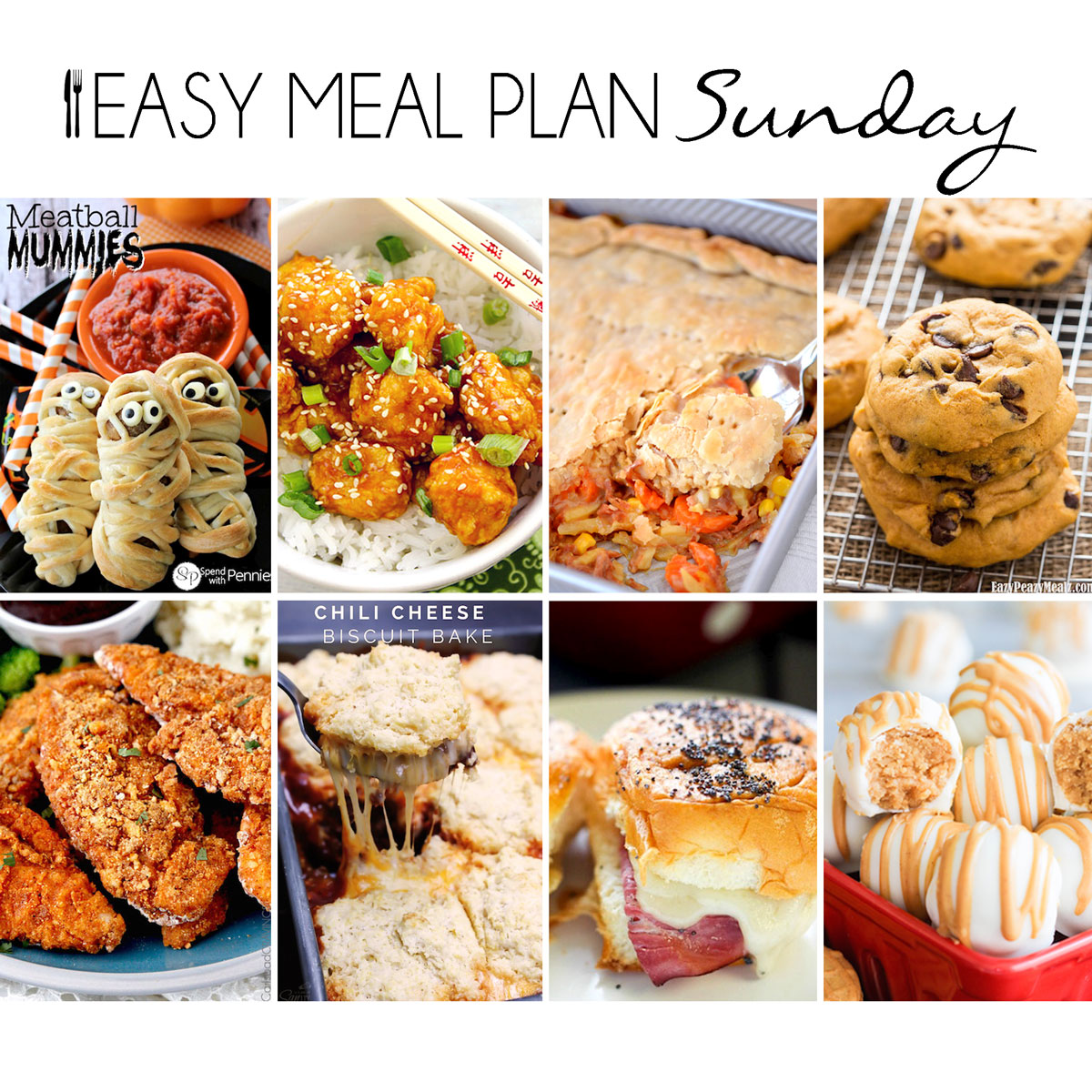 Easy Meal Plan Sunday 17