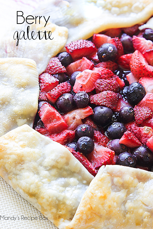 Berry Galette is a delicious pie like dessert made without a pie-plate and filled with fresh fruit. Life-in-the-Lofthouse.com